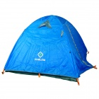 HARLEM HT-103 Outdoor 2-door 3-person Rainproof 190T Oxford Fabric Tent for Camping - Blue
