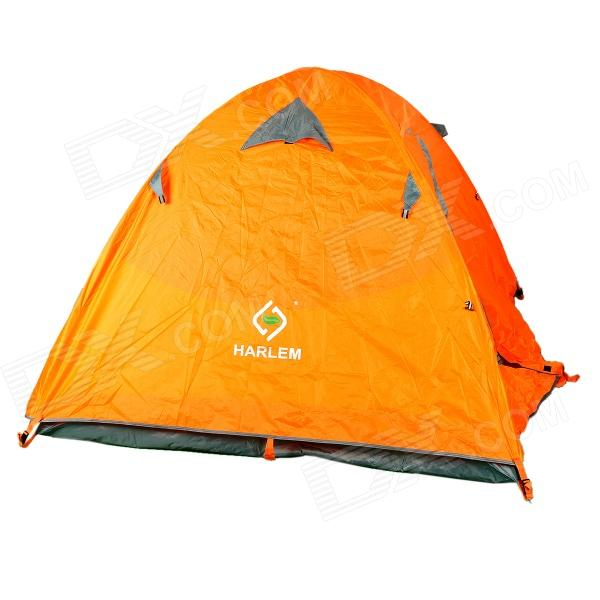 HARLEM HT-103 Outdoor 2-door 3-person Rainproof 190T Oxford Fabric Tent for Camping - Orange + Grey внутренний тент лотос куб 180х210х210