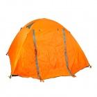 HARLEM HT-103 Outdoor 2-door 3-person Rainproof 190T Oxford Fabric Tent for Camping - Orange + Grey