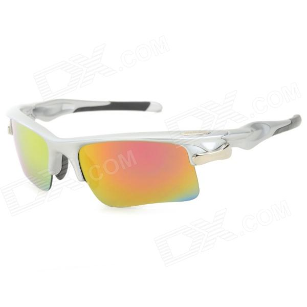 FAXIANZHE Sports Sykling PC Lens ABS Frame UV400 beskyttelse Goggles w / Replacement Lens - Gul
