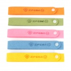 Zero Zone Convenient Mosquito Repellent Wrist Strap - Orange + Yellow + Blue + Green + Pink (5 PCS)
