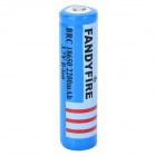 FANDYFIRE Rechargeable 3.7V 18650 1800mAh Li-ion Battery w/ Protection Panel - Blue + Black