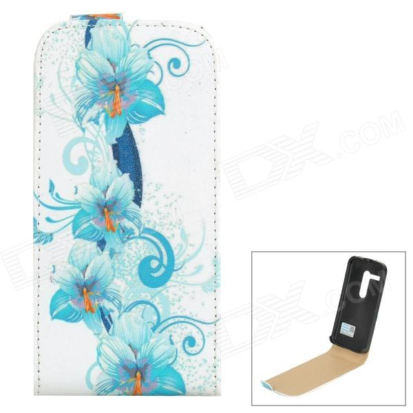PUDINI WB-MOTOH Protective Flip-open PU Leather Case for Motorola MOTO G - White