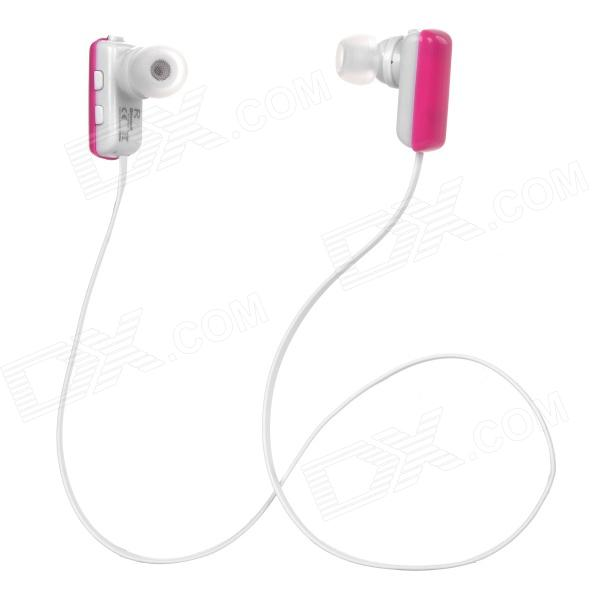 Aita AT-BT32 Bluetooth V4.0 Neckband w / Microphone - Blanc + rose foncé