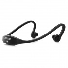 Sports Wireless Behind-the-Neck MP3 Headphone w/ TF / FM / USB - Black