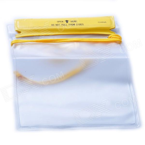AceCamp 1850 Waterproof Watertight PVC Pouch Bag - Translucent White + Yellow (12.5 x 17.5cm)