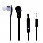 Easeyes E806 Universal In-Ear Earphones w/ Microphone for IPHONE + More - Black (3.5mm Plug)