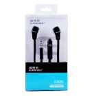 Easeyes E806 Universal In-Ear hodetelefoner m / mikrofon for IPHONE + More - svart (3,5 mm plugg)