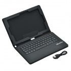 Bluetooth V3.0 Keyboard & Protective PU Leather Case Stand for Sony Xperia Z2 Table 10.1 - Black