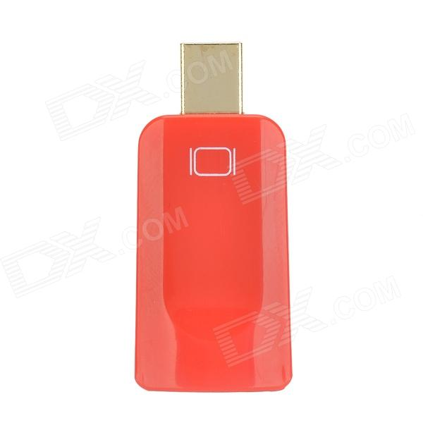 DH-01 Mini Display Port Male DP to HDMI Felmale Adapter - Red dh 01 mini display port male dp to hdmi felmale adapter red