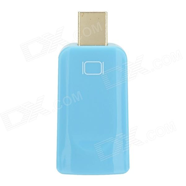 DH-01 Mini Display Port Male DP to HDMI Felmale Adapter - Blue dh 01 mini display port male dp to hdmi felmale adapter red