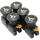 DIY YW-11M Button Switches w/ Indicator - Black (5 PCS)