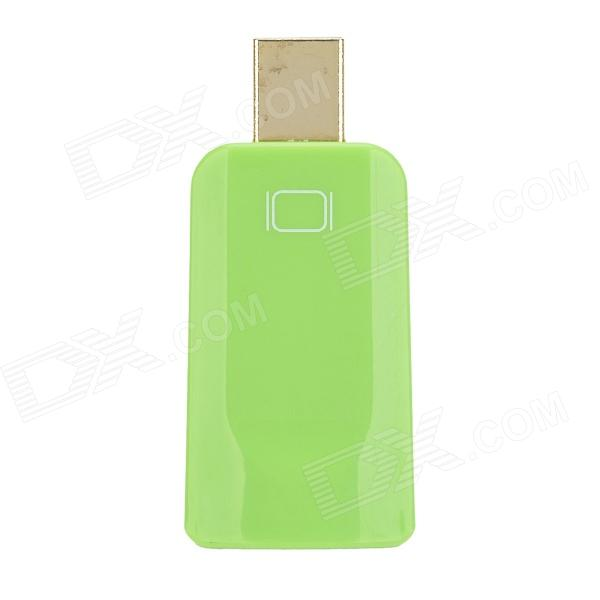 DH-01 Mini Display Port Male DP to HDMI Felmale Adapter - Green dh 01 mini display port male dp to hdmi felmale adapter red