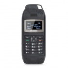 "Malata A10 Mini Fashion 1.0"" Screen GSM Quad-Band Cellphone + Mobile Power w/ TF Slot - Black"