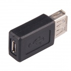 Professional Micro USB Female to USB Female Adapter - Black(10 PCS)