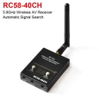 Boscam RC58-32CH 32-CH 5.8GHz Auto Signal Search Wireless AV Receiver - Black