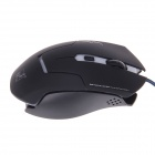 X-LSWAB T7 2400 DPI Wired USB Dazzle Color Optical Gaming Mouse - Black
