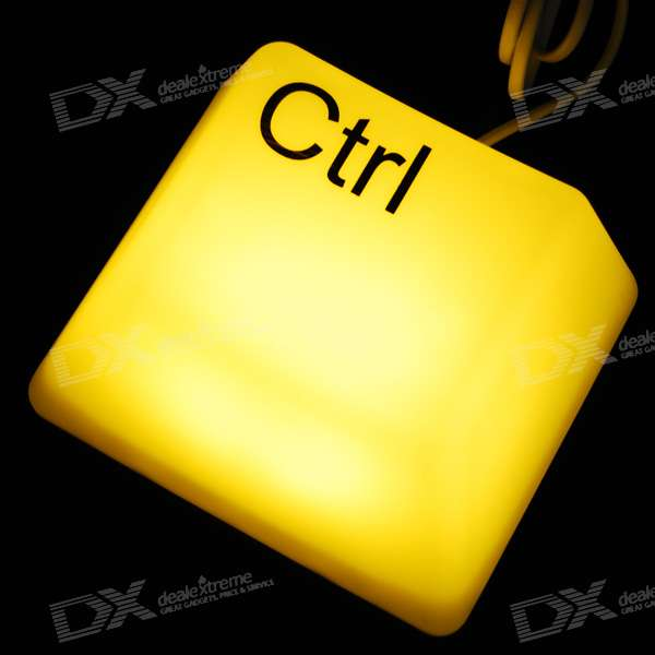 "Cute ""Ctrl"" Key Style Night Light (US Plug/220V)"