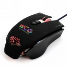 Dare-u WCG Armor Soldier 6400DPI 7 Programmable Buttons USB Wired Mechanical Gaming Mouse