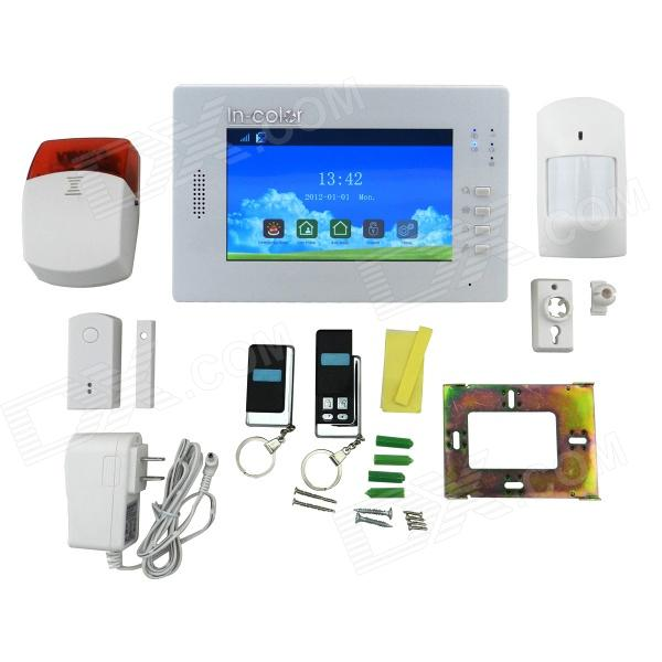 DP-X6 7 Full Touch Color Screen Wireless Alarm System - White