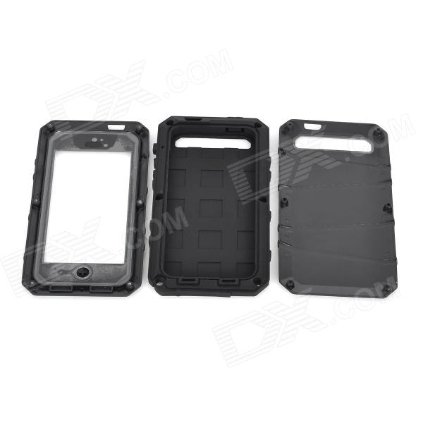 Cooskin SW-204 Waterproof Protective Aluminum Alloy + Silicone Full Body Case for IPHONE 5 - Black