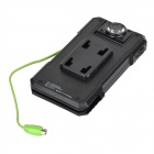 S-POWER 300lm 1-LED 2-Mode Bike Flashlight / Polymer Battery Power Bank w/ Holder - Black
