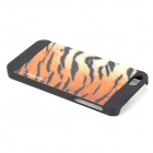 Motomo NKK05 Luxurious Tiger Skin Pattern Plastic Protective Case for IPHONE 5 / 5S - Black + Brown