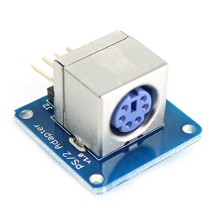 PS/2 Keyboard Adapter Module for Arduino - Blue + Silver (Works with Official Arduino Board) mining power combination for ps 2112 2ld ps 2112 2l 1100w with breakout board and 10pcs wire fully tested