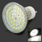 GU10 3W 250lm 5500K 36-SMD 2835 LED White Light Spotlight - Weiß + Transparent (AC 100-240V)