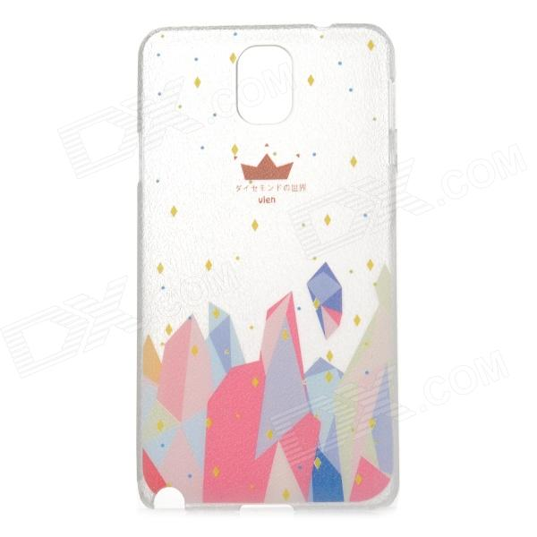 Painting Pattern Protective Plastic Back Case for Samsung Galaxy Note 3 - Multicolored + Transparent protective cute spots pattern back case for samsung galaxy s4 i9500 multicolored