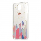 Painting Pattern Protective Plastic Back Case for Samsung Galaxy Note 3 - Multicolored + Transparent