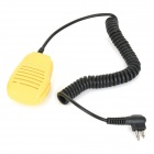 Handheld Microphone for Motorola Walkie Talkie - Yellow