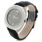 Haiyan A523 Women's Crystal Inlaid Quartz Watch w/ Leather Band - Black + Silver + White (1 x 626)