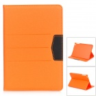 Skyddande Flip Open PU läder + PC fall med stativ för IPAD MINI - Orange