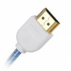 Universal Micro HDMI Male to HDMI Male HD Data Cable for Tablet PC - Blue + White
