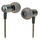 Kkcsc E818 universella 3.5mm domkraft trådbunden In-ear hörlurar för MP3 / MP4 / PC / Mobil-Svart