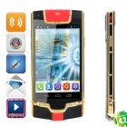 "JIAKE V1 Android 4.2.2 WCDMA Dual-core Bar Phone w/ 3.7"" Screen, Wi-Fi and GPS - Golden + Black"