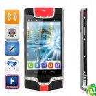 "JIAKE V1 Android 4.2.2 Dual-Core WCDMA Bar Phone w/ 3.7"" Screen, Wi-Fi and GPS - Black + Silver"