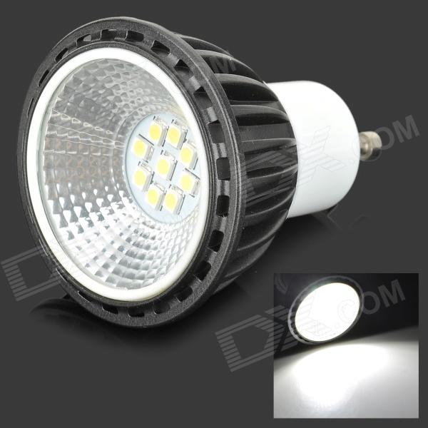 Фото YouOkLight GU10 5W 420LM 6500K White 9-2835 SMD LED Spotlight - Black + White (AC 100~240V) pyramid style g4 5w 420lm 6500k 1 led white light bed clamp lamp w eu plug white ac 220 240v