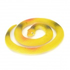 Rubber Practical Joke Snake Shaped Toy - Yellow + Red + Multi-Colored
