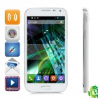 "JIAKE I9500W Android 4.2.2 WCDMA Quad-core Bar Phone w/ 5.0"" Screen, Wi-Fi and GPS - White + Silver"