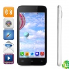 "JIAKE V2 Android 4.2.2 Dual-core WCDMA Bar Phone w/ 4.5"" Screen, Wi-Fi and GPS - White + Black"