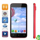 "JIAKE V2 Android 4.2.2 WCDMA Dual-core Bar Phone w/ 4.5"" Screen, GPS and Wi-Fi - Red + Black"