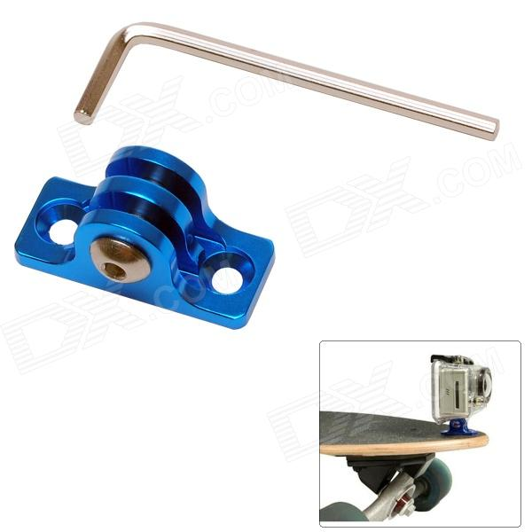 Aluminum Alloy Skating / Surfing Board Mount Fixed Socket for Gopro Hero 4/ 3+ / 3 / 2 - Blue