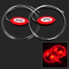 Red Light 3-Mode LED Flashing Bootlaces Shoelaces (4 x CR2016 / Pair)