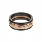 Retro Style Men's 317L Stainless Steel Finger Ring - Golden + Black (US Size 11)