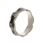 Women's 317L Stainless Steel Finger Rings w/ Shiny Rhinestone Decoration (US Size 9.5)