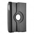 Protective PU Leather 360 Degree Rotation Case w/ Stylus / Guard Film for IPAD 2 / 3 / 4 -Black