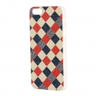 Grid Pattern Protective Plastic Back Case for IPHONE 5 / 5S - Red + White