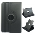 Protective PU Leather 360 Degree Rotation Case w/ Stylus / Guard Film for IPAD Mini 1 / 2 - Black
